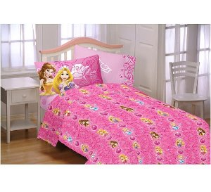 Disney Princess Shine All The Time Twin Sheet Set
