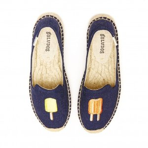 Soludos Popsicle Navy Smoking Slipper for Women - Soludos Espadrilles