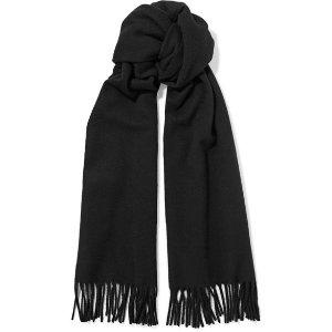 Acne Studios Canada Narrow fringed wool scarf