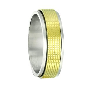 Stainless Steel Gold Spinner Ring