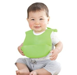 $4.74 Summer Infant Bibbity Rinse and Roll Portable Bib, Green
