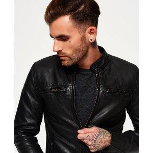 Superdry Endurance Comp Leather Jacket
