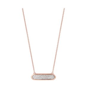 Baja Mini Necklace in 18ct Rose Gold Vermeil on Sterling Silver with Diamond | Jewellery by Monica Vinader