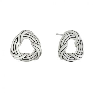Peter Thomas Roth Ribbon & Reed Signature Classic Stud Earrings in sterling silver