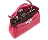 Fendi Peekaboo Micro Satchel Bag, Pink
