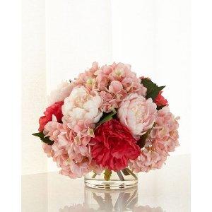 John-Richard Collection Pink Ice Faux-Floral Arrangement