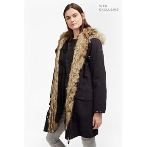 Cocoon Cotton Hooded Longline Parka | Coats | French Connection Usa
