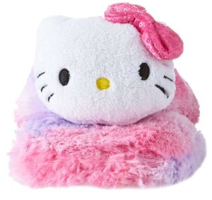 Lowest Price Ever $5.78 Hello Kitty Women's Slipper Thong with 3D Head and Sequin Bow