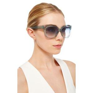 Crystal Cat Eye Sunglasses by Linda Farrow | Moda Operandi