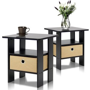 Furinno 2-11157EX End Table Bedroom Night Stand
