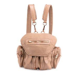 Alexander Wang Mini Marti Leather Backpack, Latte/Rose Gold