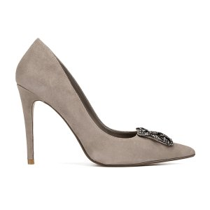 Dune Women's Breanna Suede Court Shoes - Mink - FREE UK Delivery
