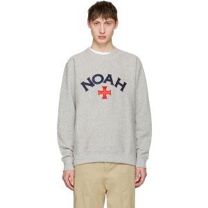 Noah Grey Varsity Logo Sweatshirt