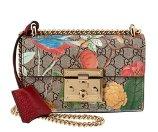 Gucci Padlock Blooms Canvas Shoulder Bag