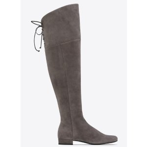 SAINT LAURENT BB 20 OVER-THE-KNEE LACED BOOT