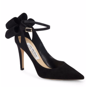 Saks Fifth Avenue Made in Italy - Bow Ankle Strap Suede Pumps - saksoff5th.com