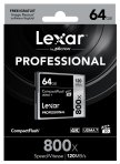 $29.95 Lexar Professional 800x 64GB VPG-20 Compact Flash Card