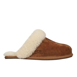 UGG Women's Scuffette II Suede Slippers - Chestnut - FREE UK Delivery