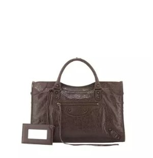 Balenciaga Classic City Bag, Dark Brown @ Neiman Marcus