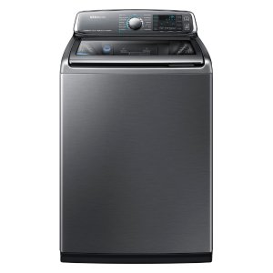 Samsung 5.2 cu. ft. High-Efficiency Top Load Washer with Activewash in Platinum, ENERGY STAR-WA52J8700AP - The Home Depot