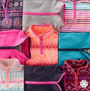 $6 & Up Kids Fleece Cozies Doorbusters Kids Apparel Black Friday Sale @ OshKosh BGosh