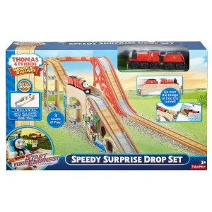 Fisher-Price Thomas and Friends Wooden Railway Speedy Surprise Drop Set - Fisher-Price - Toys