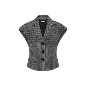 Sculpted Houndstooth Vest by Michael Kors Collection