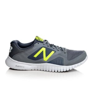 Men's New Balance MX613GF Grey/Volt/White | Shoe Carnival