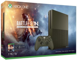 $254.99 Xbox One S 1TB Console – Battlefield 1 Special Edition Bundle