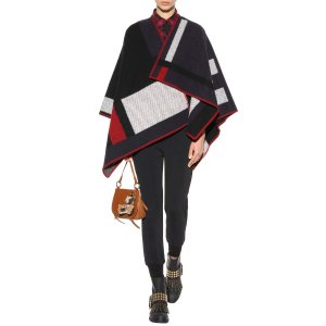 Wool And Cashmere-Blend Poncho - Burberry | mytheresa.com