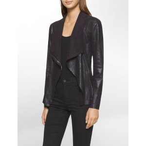 asymmetrical zip flyaway jacket   Calvin Klein