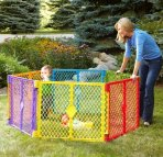 $59.74 North States Superyard Colorplay 6-Panel Play Yard, Portable Indoor-Outdoor, Multi-Colored