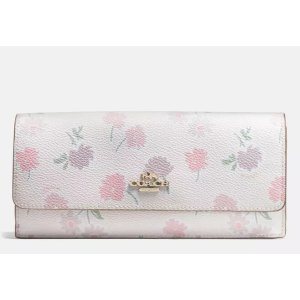 SOFT wallet in daisy field print coated canvas by Coach | Spring - Free Shipping. On Everything
