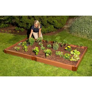 Frame It All Two Inch Series 4 ft. x 8 ft. x 5.5 in. Composite Raised Garden Bed Kit-300001090 - The Home Depot