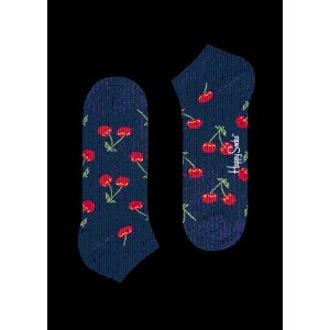 Navy Blue Low Socks: Vibrant Cherry style
