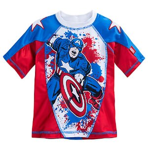 Captain America Rash Guard for Boys | Disney Store