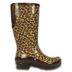 Crocs Leopard Tall Rain Boot - Women | zulily