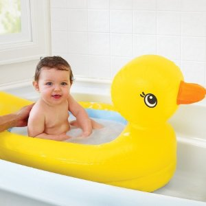 Munchkin White Hot® Inflatable Duck Safety Baby Bath Tub : Target