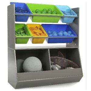Tot Tutors Elements Grey Mega Toy Storage Organizer - Tot Tutors - Toys