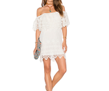 Jen's Pirate Booty Charmer Off The Shoulder Lace Mini Dress | Bloomingdale's