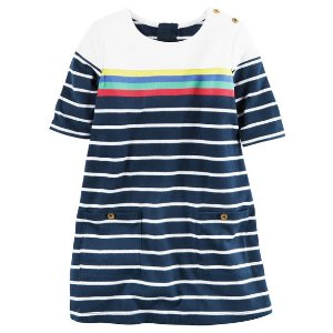Toddler Girl Striped Jersey Shift Dress | Carters.com