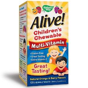 Nature's Way Alive! Children's Chewable Multi-Vitamin - Natural Orange & Berry Flavors