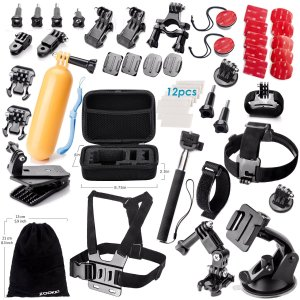 Camera Accessory Kit for GoPro Hero 4/ 3+/ 3/ 2/ 1 (50 items)