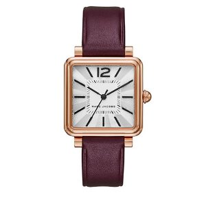 MARC JACOBS VIC Stainless Steel And Leather Strap Watch