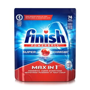$7.46 Finish Max in 1 Powerball Automatic Dishwasher Detergent, 74 Tablets
