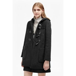 Teddy Check Hooded Duffle Coat | Coats | French Connection Usa