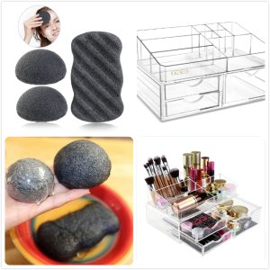 On Sale PIXNOR Facial Body Sponges and Makeup Organizer