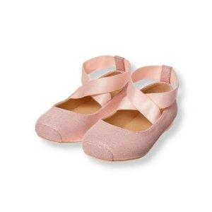 Baby Girl Shimmer Ballet Pink Shimmer Ballet Flat at JanieandJack