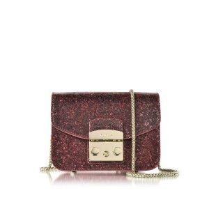 Furla Ruby Glitter Metropolis Mini Crossbody Bag at FORZIERI