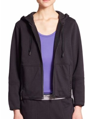adidas by Stella McCartney Zip-Up Organic Cotton Hoodie @ Saks Off 5th